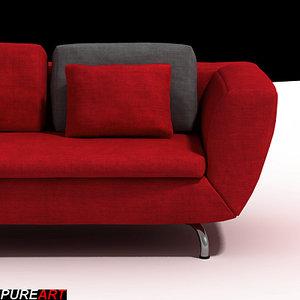 3d divan couch model
