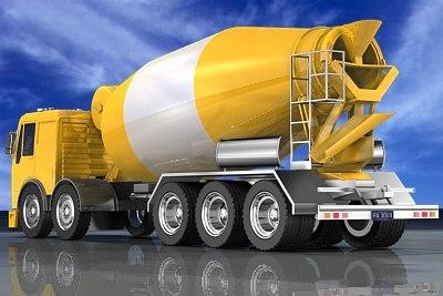 mixer truck 3d model