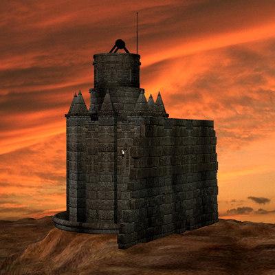 medieval architecture 3d 3ds