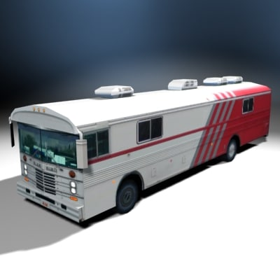 3d medical bloodmobile model