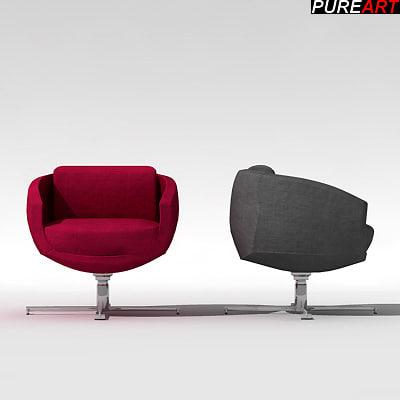 furniture armchair chair 3d max