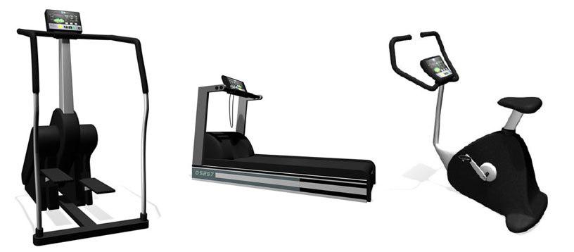 gym treadmill exercise 3d model