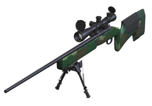 m40a3 sniper rifle 3d model