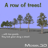 3d model row trees