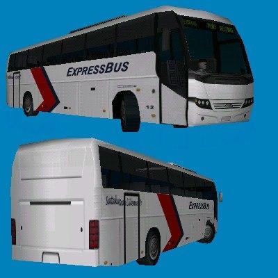 scania bus 3d model