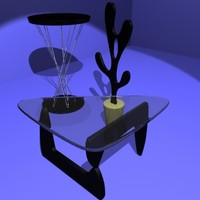 isamu noguchi coffee table 3d model