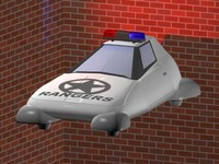 3ds max flying cars police cruiser