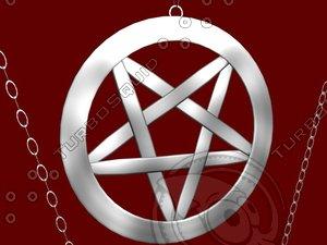 3d model occult pentagram
