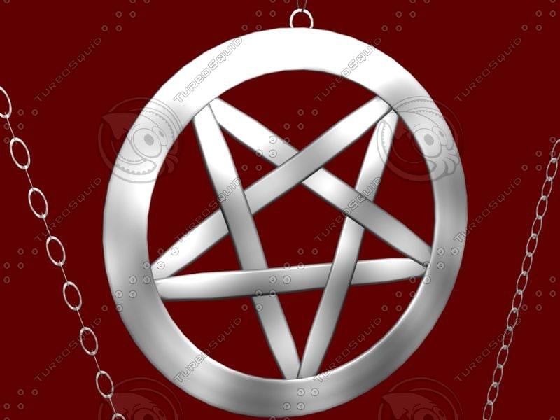 3d model occult pentagram