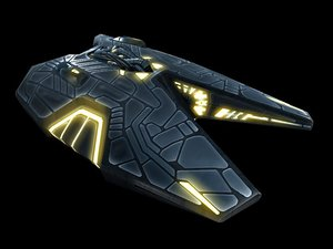 3d alien fighter model