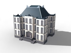 mansion house building 3d model