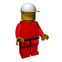 3d model lego man