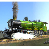 railways locomotive 3d model