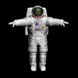 astronaut spacesuit 3d model