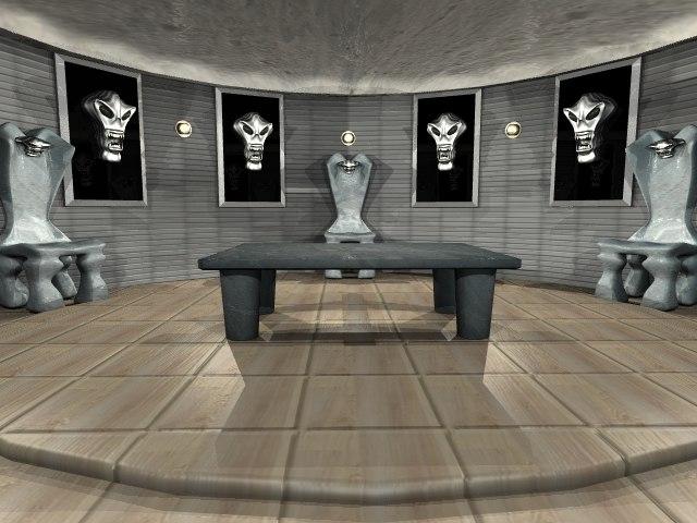 room skulls 3d lwo