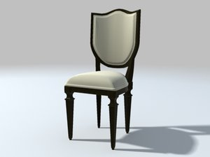 dining room chair 3d 3ds