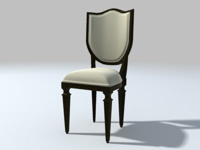 3ds max dining room chair