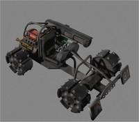 3d max futuristic buggy