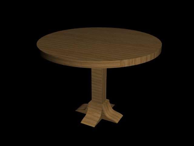 3d oak table model