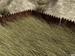 professional pack grass 3d model