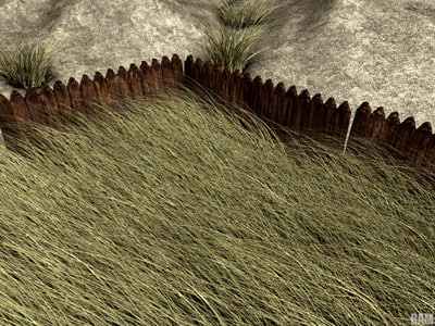 professional pack grass 3d model