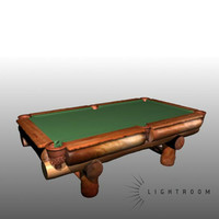 3d pool table model