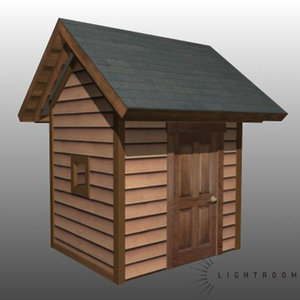 3d model house shed