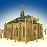 3d cathedral building