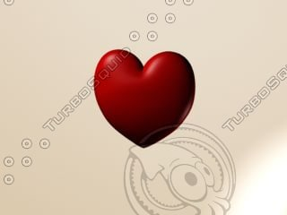 love heart 3d model