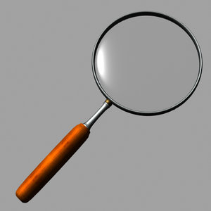 realistic magnifying glass lwo