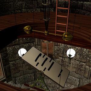 gothic tower frankenstein laboratory 3d model