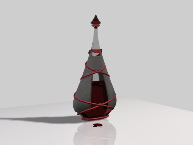 3d flask model