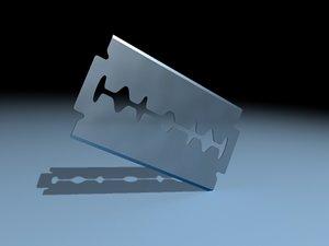 3d razor blade
