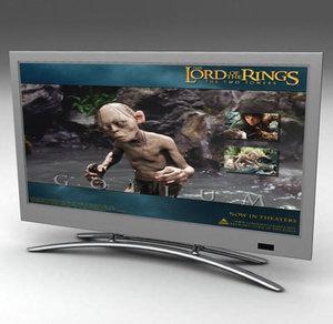 42 inch plasma tv 3d model