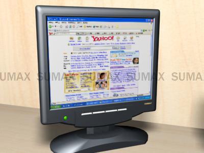 screen monitor 3d max