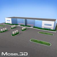 3d modern office building model