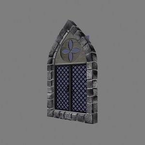 stone gothic window 3d model