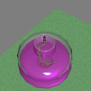 free lab equipment spirit burner 3d model