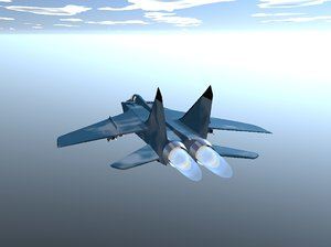 mig31 airplane 3d model