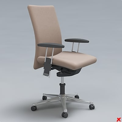 3d max chair office