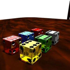 3d dice card