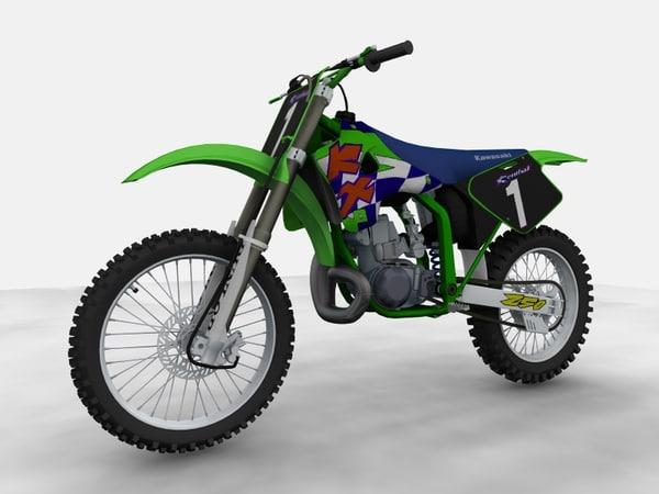 kx dirtbike 3d model