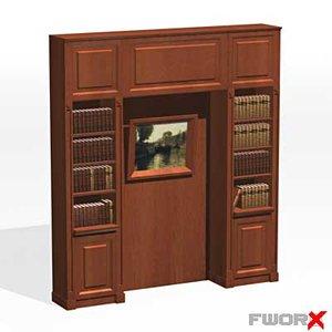 bookcase cabinet 3d max