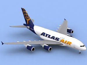 lightwave airbus a380-800 f atlas