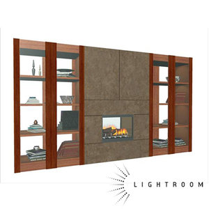 3d model librairy fireplace