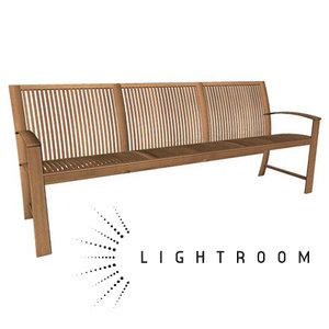 3d bench wood