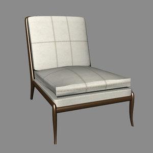 modern couch single 3d model
