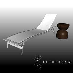 pool lounge chair 3d ma