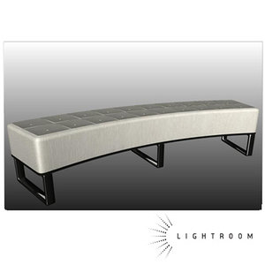 3d ma leather bench