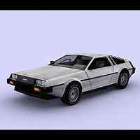free delorean 3d model